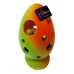 Pierced Egg Green Orange