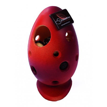 Pierced Egg Red Purple